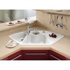 how to clean the corner kitchen sink easily bowl white ceramic