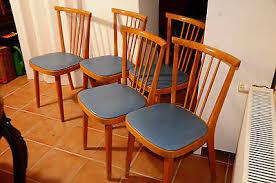 5 x blaue küchenstühle 50er jahre vintage esszimmer für