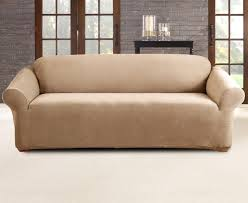 3 Seater Sofa Covers by Catch Com Au Sure Fit Stretch 3 Seater Sofa Cover Flax
