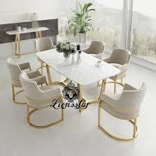 luxus esstisch set edel metall design lionsstar gmbh