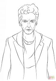 Click The Twelfth Doctor From Who Coloring Pages