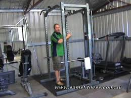 Pulldown Variation on Powertec Power Rack System at