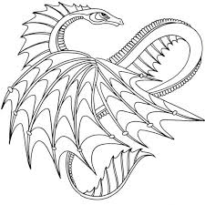 Chinese Dragon Coloring Pages Easy Scary Print Cool Printable Colorings Design Ideas