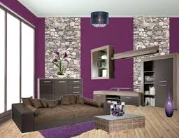 ideen lila marvelous wandgestaltung wohnzimmer