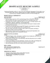 Hospitality Resume Example Impressive For Job Examples Of Resumes