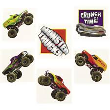 100 Monster Truck Birthday Party Supplies Tattoos Each Walmartcom