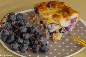 dessert aux raisins frais gâteau aux raisins noirs et aux pommes kilometre 0 fr