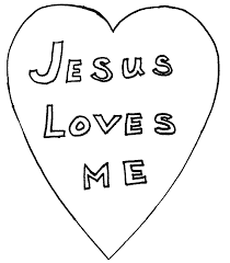 New Testament Coloring Pages Jesus Loves Me