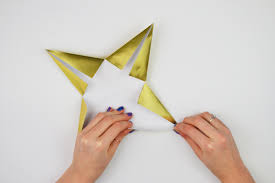 Christmas Decorations Orgiami Star Tutorial Step 6