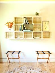 Crate Shelves Inspiration For A Contemporary Light Wood Floor Hallway Remodel In New With White Walls