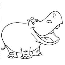 Hippopotamus Coloring Page For Kids