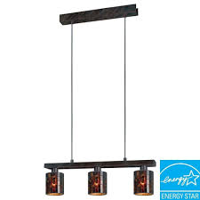 Lamp Shade Adapter Ring Home Depot by Eglo Troya 3 Light 59 In Hanging Antique Brown Ceiling Island