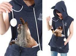 cat hoodies cat hoodie with kangaroo pouch lets you take your cat wherever you