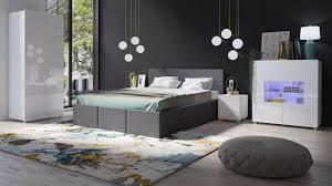 schlafzimmer komplett set 5 tlg labri grau weiss hochglanz