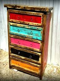 Colored Rustic Furniture Best Painted Ideas On Distressing Wood Distressed And How To