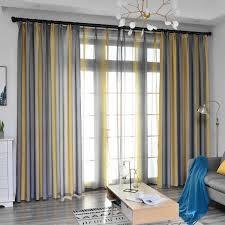 4 farben nordic einfache gelb vorhänge für wohnzimmer