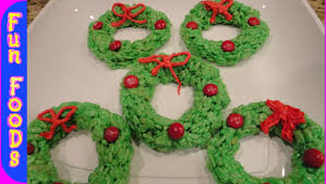 Rice Krispie Christmas Trees Recipe by Rice Krispie Christmas Wreaths Easy Christmas Recipes To Make