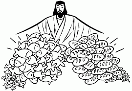 Fishes And Bread Jesus Clipart