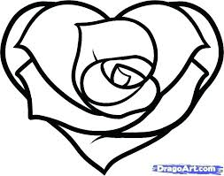 Roses Coloring Pages Hearts And How To Draw A Heart