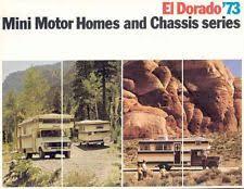1973 El Dorado Mini Motorhome RV Brochure R589 YX6EEY