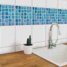 fliesenaufkleber glasmosaik 12er set