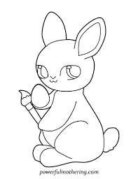 Grab Our Cute Easter Bunny A Free Printable Coloring Page
