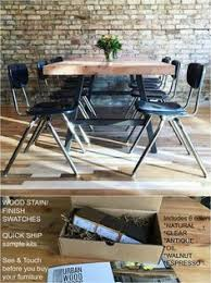Reclaimed Wood Desk Top Office Furniture Modern Custom Dining Table With Reclaimed Wood Top And Steel Pipe Legs In