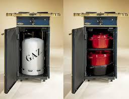 rangement bouteille de gaz cuisinière châtelaine coffre de rangement 1 foyer gaz marron