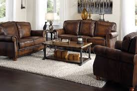 Bob Mills Living Room Furniture by Sofas Montbrook Hand Rubbed Brown Leather Sofa Coa 503981 3 Ba