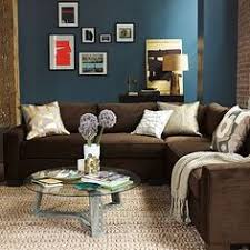 Brown Couch Living Room Colors by Brown Sectional Sofa Plus Blue Living Room Inspiration Living