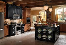 Merillat Kitchen Cabinets Online by Decorating Peru Wooden Kraftmaid Cabinets With Black Countertop