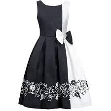 black white dress girls dress ty