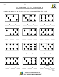 Halloween Multiplication Worksheets Grade 4 by Printable Kindergarten Math Worksheets Domino Addition 3