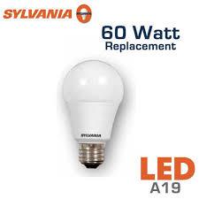 led a19 bulb 60 watt equal sylvania led10a19 73017 earthled