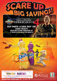 Halloween Horror Nights Promo Codes 2017 by 7 Eleven Buy Fanta U0026 Save 60 Off Uss Halloween Horror Nights 25