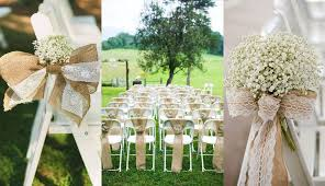 Rustic Country Burlap Wedding Chair Decor With Decoration Ideas