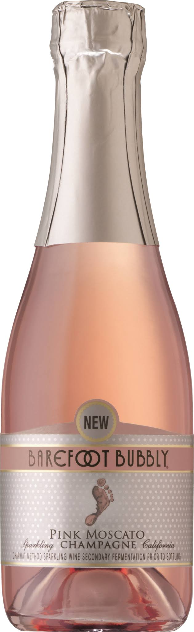 Barefoot Bubbly Pink Moscato - 187ml, 4 Pack