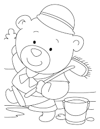 Bear Servant Mops Better Coloring Pages