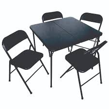 5pc Bi-Fold Vinyl Padded Folding Table & Chairs Set — Plastic ... Pub Table And Chair Sets House Architecture Design Fniture Design Kids Folding Childrens Chairs Small Outdoor Camp Portable Set W Carrying Bag Storedx Ore Intertional Children39s Camping Helinox 35 Fresh Space Saving Collection Wooden Kidu0027s Tables Fniture The Home Depot Inside Fold Up Children Inspired Rare Vintage 1957 Leg O Matic 4 Ideas Solid Trestle 8 Folding Chairs Set Best Price In Barnsley Uk