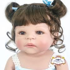 Reborn Toddler Baby Girls Vinyl Dolls Lifelike Princess Bebe Nursery