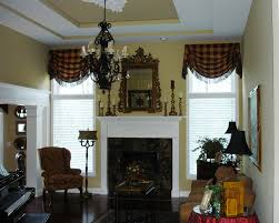 Victorian Style Valance Curtains For Living Room Hanging Scarf