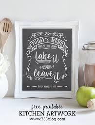Printable Todays Menu Kitchen Chalkboard Art
