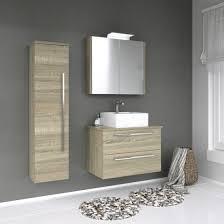 vidamar serena hochschrank badezimmerschrank 1 tür eiche grau 35 x 140 cm