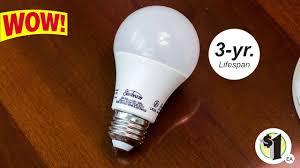 sunbeam皰 warm white 9 watt medium base led light bulbs