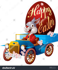 Easter Rabbit Truck Egg Vector Stock Vector (Royalty Free) 46220446 ...
