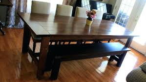 Kitchen Table Bench With Back Large Size Of Storage Seats Dining