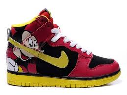 Nike Outlet by Outlet Nike Dunk High Top Black Yellow Disney Mickey Mouse For