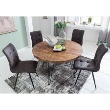 wohnling design esszimmertisch bagli rund ø 120 x 78 cm sheesham massiv holz landhaus esstisch braun tisch für esszimmer küchentisch 4 personen