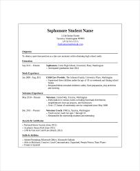 10 High School Student Resume Templates Pdf Doc Free Premium Rh Template Net Good Examples