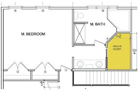 master bedrooms bathroom floors plans small closet house